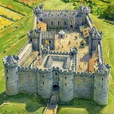 Unspecified Medieval Castle by Steve Noon Medieval World, Medieval Castle, Medieval Fantasy, Medieval Fortress, Castle House, Castle Ruins, Castle Wall, Chateau Moyen Age, Castle Layout