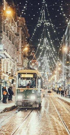 Christmas lights City Scape • Ꭿ Wнιтє CHRISTMAS