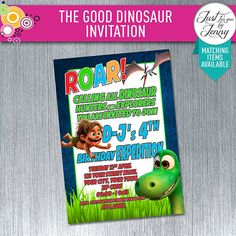 THE GOOD DINOSAUR - Digital download custom birthday invitation by JustForYouByJenny on Etsy
