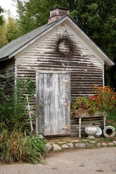 garden, cute shed, i want one!
