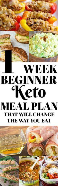 One week beginner keto olan that will change the way you eat #keto #ketogenic #lowcarb