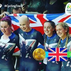 GB took the Gold, with a time of 4:10.236s Women's Team Pursuit Rio 2016