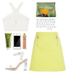 """""""..."""" by yexyka ❤ liked on Polyvore featuring Squair, Versace, RAHUA, BCBGMAXAZRIA, AERIN and Wanderlust + Co"""