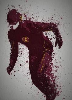 """Scarlet Speedster"" Splatter effect artwork inspired by The Flash TV series http://tinyw.in/nJOk"