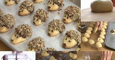 Cookie Recipes - How to Make Hedgehog Cookies - Find and Share Everyday Cooking Recipes Hedgehog Cookies, Biscuits, Cookie Recipes, Dessert Recipes, Christmas Snacks, Biscuit Recipe, Melting Chocolate, Allrecipes, Fantasy