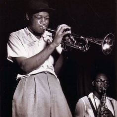 """Clifford Brown and Gigi Gryce """"Clifford Brown was in the jazz circles considered to be probably the greatest trumpet player who ever lived."""" - Herb Alpert"""