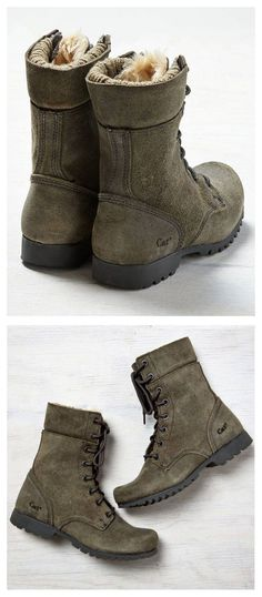 Cat Boots   Olive Green