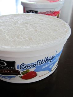 CocoWhip truly #dairyfree whipped topping from So Delicious - Fluffy and indulgent, in tubs, perfect for pumpkin pies and parfaits. Vegan, gluten-free, soy-free, carrageenan-free, non-GMO.