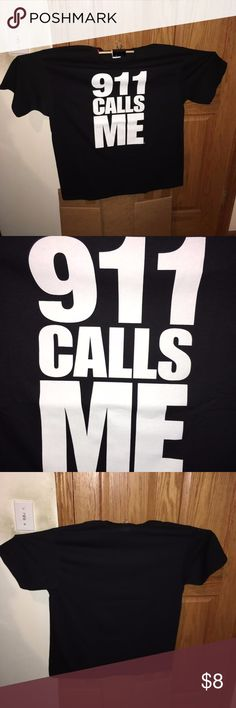911-CALLS-ME-Extra-Large-XL-Black-Shirt-T-shirt Up for sale is (1) Awesome  911 CALLS ME XL black t-shirt.  100% cotton preshrunk. Made in Honduras.  Anvil product.   -Add this shirt to your collection!      Perfect for any t-shirt collector!  CONDITION: GENTLY USED/PRE-OWNED: Please examine all pics BEFORE purchasing. Anvil Shirts Tees - Short Sleeve