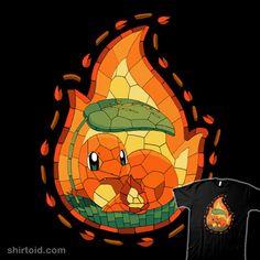 Mosaic Fire | Shirtoid #charmander #gaming #pokemon #pokemongo #valevfkff #vallina84 #videogame
