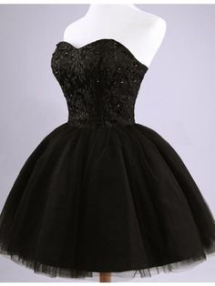 short homecoming dresses,black homecoming dresses,sweetheart homecoming dresses,beaded homecoming dresses @SevenProm