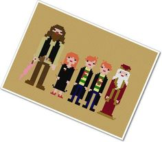 Pixel People  Harry's Friends  PDF Cross by weelittlestitches, $5.00