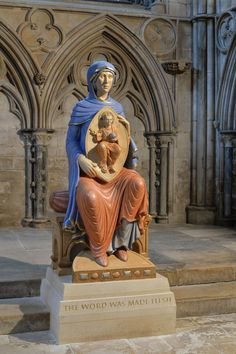 Blessed Virgin Mary sculpture, carved on StoneGenie for Lincoln Cathedral in collaboration with Aiden Hart