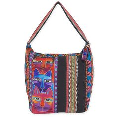Shop where every purchase helps shelter pets! Laurel Burch Stacked Whiskered Cats Hobo - from $33.00