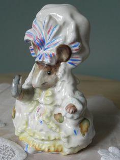 Beatrix Potter Figurine Rare Gold Oval Beswick by Nickelplatedepot
