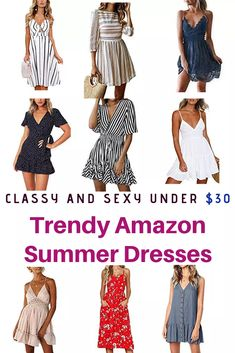 Cute and seriously trendy summer dresses under 30 dollars. Time to revamp your wardrobe. Sexy Dresses, Casual Dresses, Casual Outfits, Fashion Dresses, Fashion Clothes, Athleisure, Look Fashion, Womens Fashion, Fashion Trends