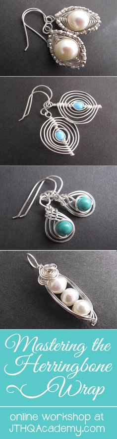 awesome Learn all these herringbone wire jewelry designs and MORE as part of this online...