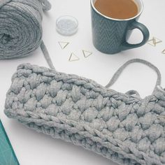 Crocheting, crochetbag, coffee, handmade