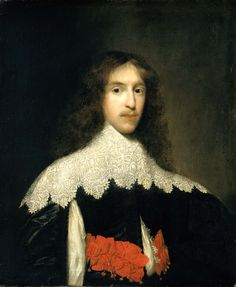 "1632 ""Portrait of a Gentleman"" by Cornelius Johnson (1635-1640) at the Smithsonian American Art Museum, Washington DC - From the curators' comments: ""[The] sitter's long hair, lace collar, and elaborate sleeves mark him as a cavalier, a supporter of the king in the civil war that eventually drove Cornelius Johnson to Holland. When the portrait was painted, Johnson was still in England, where he held the distinction of ""his Majesty's servant in the quality of Picture drawer."""""