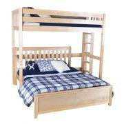 Becks Natural L Shaped Loft Bed Queen