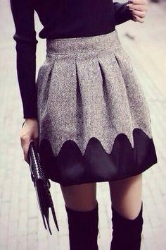 skirt grey and black grey black winter tights so cute cute fashion stylish