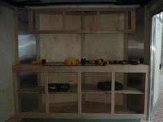 Enclosed Trailer Add-on's - Carpentry - Contractor Talk Enclosed Trailer Cabinets, Enclosed Trailer Camper, Enclosed Cargo Trailers, Cargo Trailer Camper, Work Trailer, Gypsy Trailer, Cargo Trailer Conversion, Trailer Build, Utility Trailer
