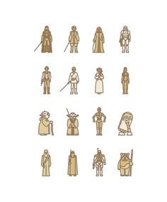 Geek-Art.net, Selin Ozgur – Star Wars Flat Icon Project The...