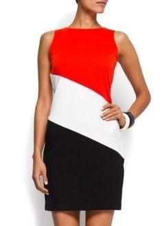 Mango Women's Combi-stripes Dress