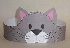Cat Gray Crown Printable van PutACrownOnIt op Etsy, $2.00