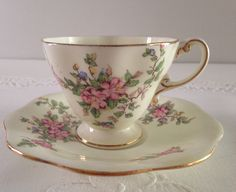 EB Foley China Tea Cup & Saucer Teacup Duo by NicerThanNewVintage on Etsy https://www.etsy.com/listing/234125712/eb-foley-china-tea-cup-saucer-teacup-duo