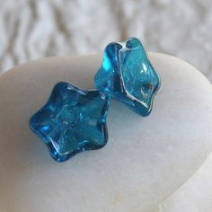 SALE Czech Glass Flower Beads - Jewelry Making Supplies - Jewelry Supply - 8x13mm (12 or 25 Beads) Capri Blue Glass Trumpet Flower by funkyprettybeads on Etsy https://www.etsy.com/listing/130934976/sale-czech-glass-flower-beads-jewelry