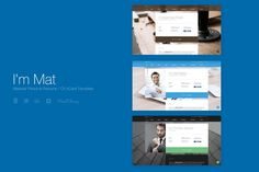 I'm Mat - Material Personal Resume vCard Template by suelo