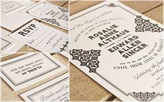 ROSALIE Suite  Custom letterpressed wedding Invitation created by Spark Letterpress www.letterpresslove.com