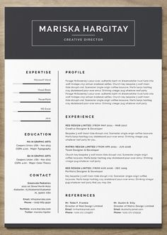 Check Out My Behance Project Free Resume Template In Microsoft