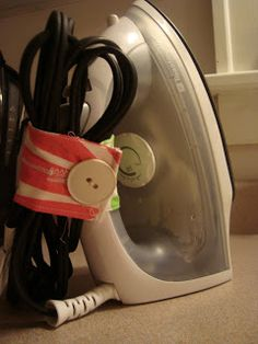 So Useful!! No more messy cords, learn how to make a cuff for your iron.