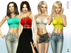 Sims 4 CC's - The Best: Tropic Crochet Top by Simsimay