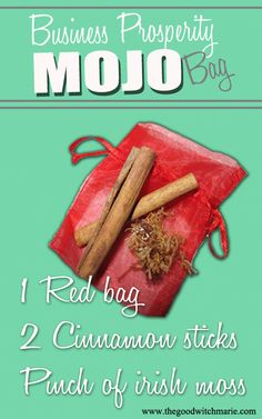 Business Prosperity Mojo Bag - Pinned by The Mystic's Emporium on Etsy