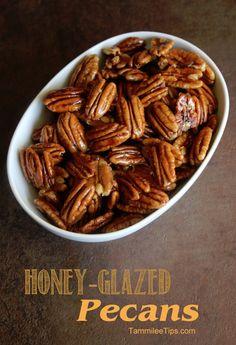 Honey Glazed Pecans- good on salads