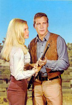 "Linda Evans & Lee Majors ''Big Valley'' Lee was ""Heath Barkley"" & this is who we named Heath after"