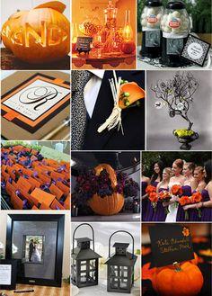 Halloween Theme - Pumpkin, Black, Purple