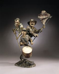 Sons- A bronze sculpture by Mark Hopkins 36x29