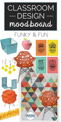 This is my favorite classroom mood board! I just love the colors and design elements! Modern Classroom, English Classroom, Classroom Design, Classroom Themes, Classroom Organization, Becoming A Teacher, Kids Class, Teacher Binder, History Teachers