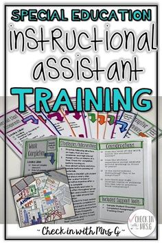 Support your paraprofessional with behavior tools and training for small group instruction in special education. Para-educators can teach small group instruction with high expectations. Life Skills Classroom, Teaching Social Skills, Teaching Language Arts, Special Education Classroom, Teaching Math, Learning Activities, Teaching Resources, Autism Classroom, Goals Template
