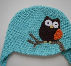 Owl appliqué found here  http://lovethebluebird.blogspot.com/2012/02/crochet-owl-pattern.html  A great little appliqué pattern!