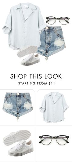 """""""Do birds still sing for you?"""" by bangtan1306 ❤ liked on Polyvore featuring One Teaspoon and Puma"""