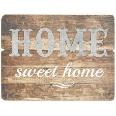 A hand-painted sentiment that your house is your home, our wood plank and galvanized iron wall decor is ready to come home with you and just hang. Sweet.