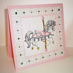 Beccy's Place: Carousel Horse Card