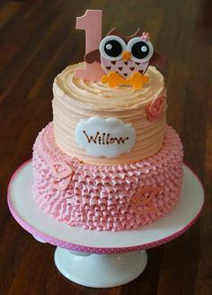 Cakes by Becky: Owl First Birthday