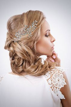 Wedding hair vine Rhinestone bridal flexible hair vine