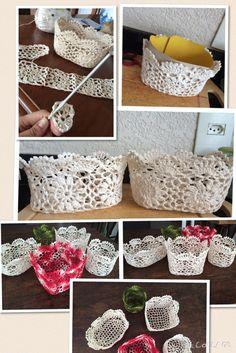 Cestinhas de crochet
